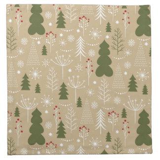 Christmas Forest Napkin