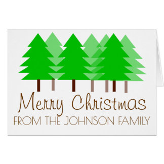 Christmas forest personalised greeting card