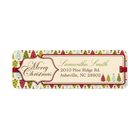 Christmas Forest Return Label Return Address Label