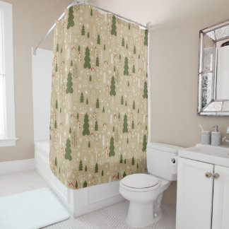 Christmas Forest Shower Curtain