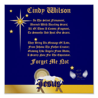 Christmas Forget Me Not Poem-Customize Posters
