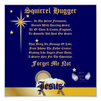 Christmas Forget Me Not Poem-Customize Poster