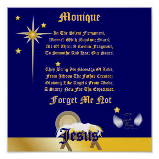 Christmas Forget Me Not Poem-Customize Print