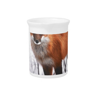 Christmas Fox in Snow Pitcher