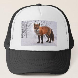Christmas Fox in Snow Trucker Hat