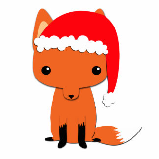 Christmas fox photo sculpture