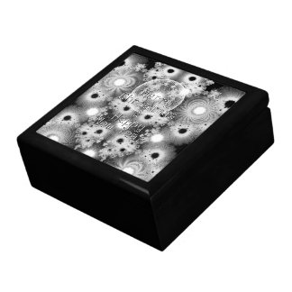 Christmas Fractals Black & White Stars Gift Box