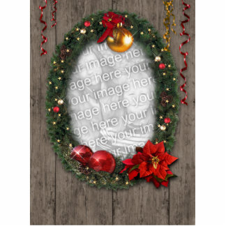 Christmas frame for your photo! standing photo sculpture