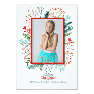 Christmas Frame Photo Holiday Card 13 Cm X 18 Cm Invitation Card