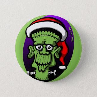 Christmas Frankenstein 6 Cm Round Badge