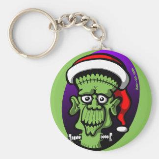 Christmas Frankenstein Basic Round Button Key Ring