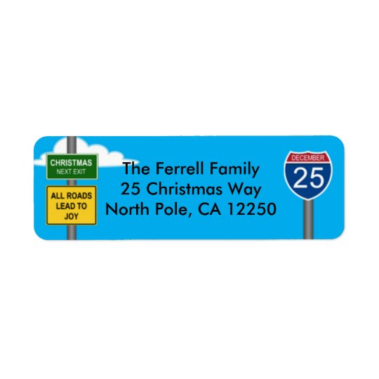 Christmas Freeway Road Signs