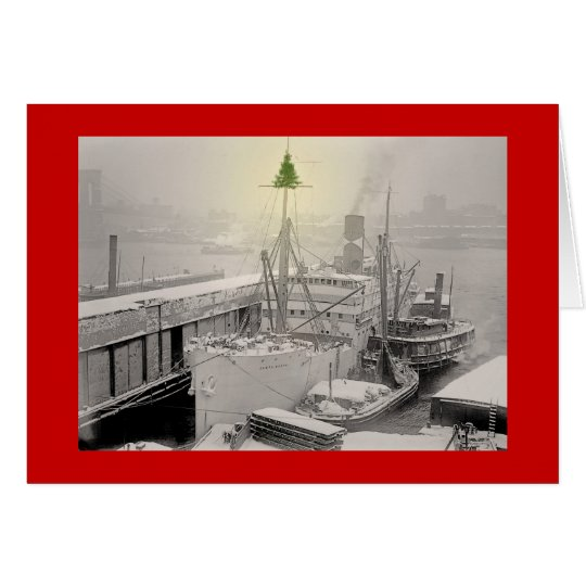 Christmas Freighter Card