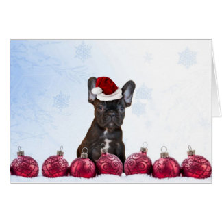 Christmas French Bulldog Card