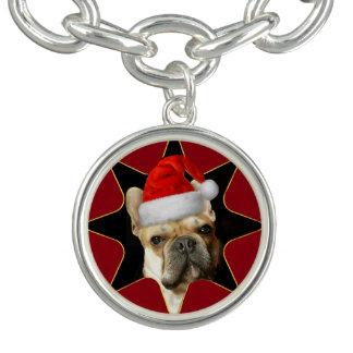 Christmas French Bulldog charm bracelet