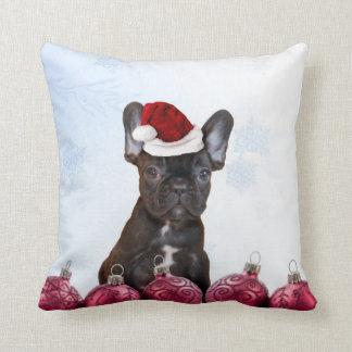 Christmas French Bulldog Cushion