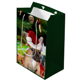 Christmas French Bulldog Gift Bag