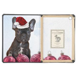 Christmas French Bulldog iPad Air Covers