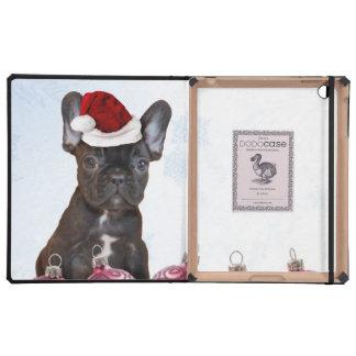 Christmas French Bulldog iPad Folio Cover