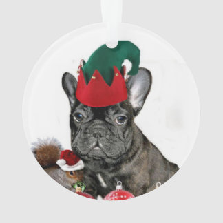 Christmas French Bulldog Ornament