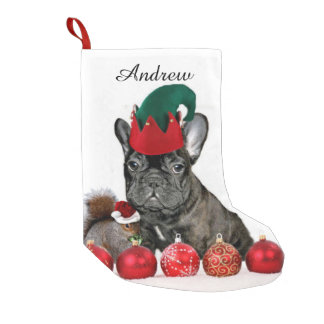 Christmas French Bulldog Small Christmas Stocking