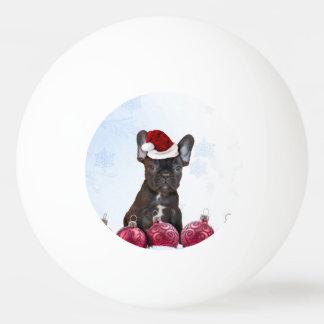 Christmas French Bulloog Ping Pong Ball