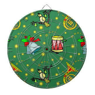 Christmas, French Horns and Magenta Drums Dart Board