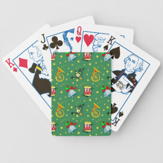 Christmas, French Horns and Magenta Drums Card Decks