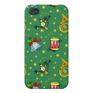 Christmas – French Horns & Magenta Drums iPhone 4 Cases