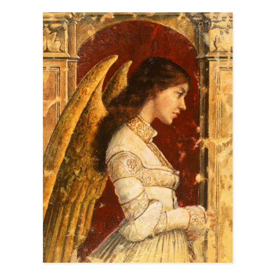 Christmas Fresco Angel Postcard