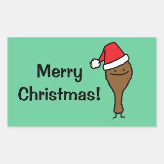 Christmas Fried Chicken Leg Sticker