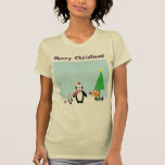 Christmas Friends: Penguins & Reindeer in the Snow Shirts