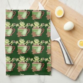 Christmas Frog Coffee mug towel