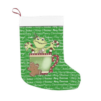 Christmas Frog Holiday cartoon stocking