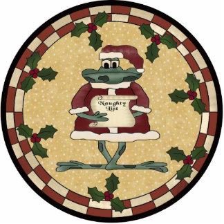 Christmas Frog Ornament Photo Sculpture Decoration
