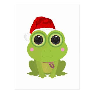 Christmas Frog Postcard