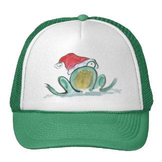 Christmas Frog Sumi-e Hats