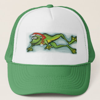 Christmas Frog Trucker Hat