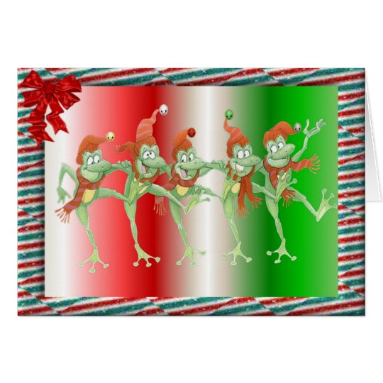 Christmas frogs card