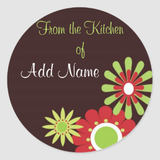 "Christmas ""from the kitchen of"" Gift Stickers"