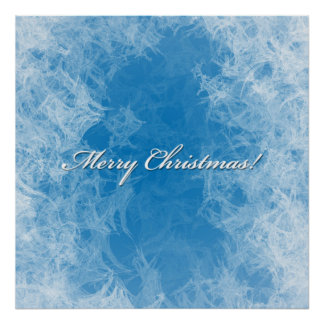 Christmas Frosty Background poster