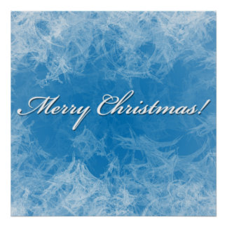 Christmas Frosty Background posterr Poster