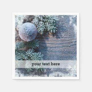 Christmas frozen ornament disposable serviette