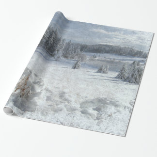 Christmas frozen scenery landscape wrapping paper