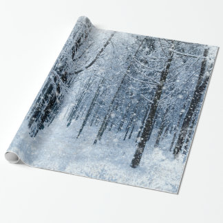 Christmas frozen snowing wrapping paper