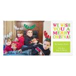 Christmas Fun Christmas Photo Cards (Sage Green)