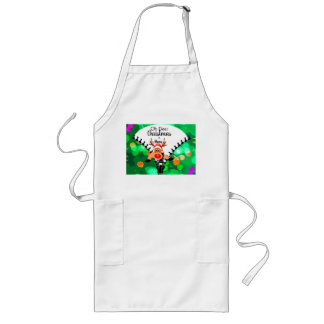Christmas |Fun greeting in green  'Oh Deer' Long Apron