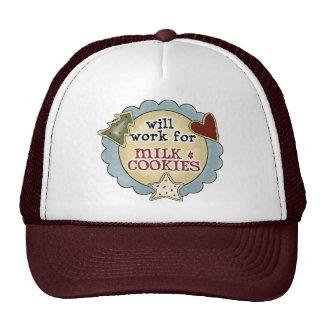 Christmas Fun Milk Cookies Cap Hat