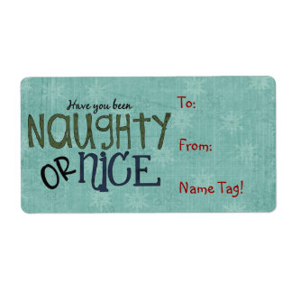 Christmas Fun Name Tag or Return Address Avery Lab Shipping Label