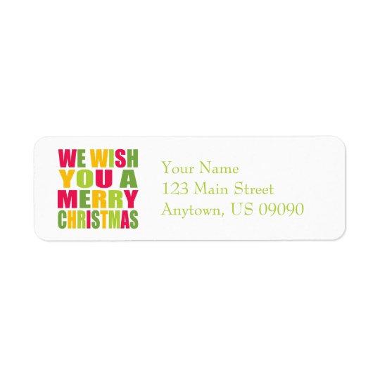 Christmas Fun Return Address Label